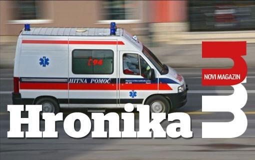 U sudaru trolejbusa i više vozila, dvoje lakše povređeno